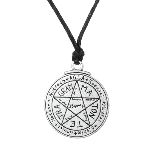 Seal of Solomon Amulet necklace wax cord