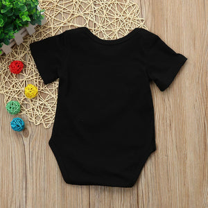 Newborn Kids Baby Boys Outfits Clothes Letter Printing Romper Jumpsuit Pajamas