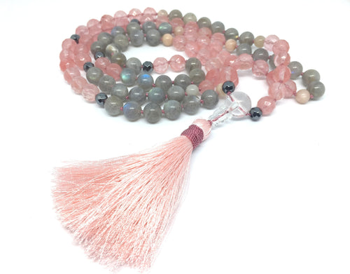 """LOVE & COMPASSION"" Tourmalin-Quartz und Labradorit Mala-Kette - Artifybox"