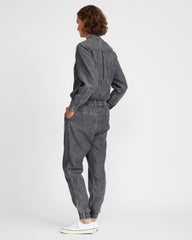 chambray boilersuit - black acid