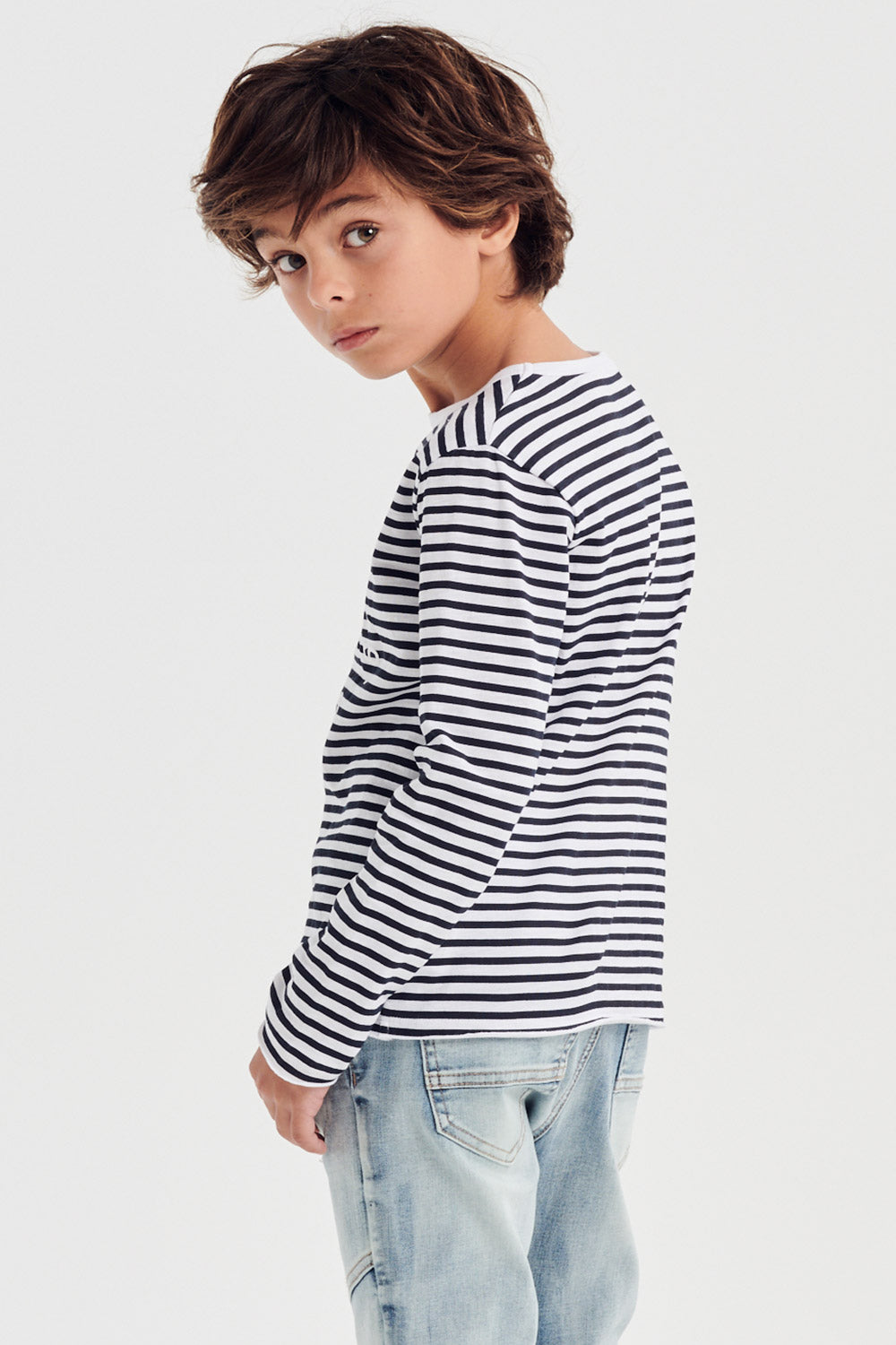 true stripe t.shirt - mood indigo stripe