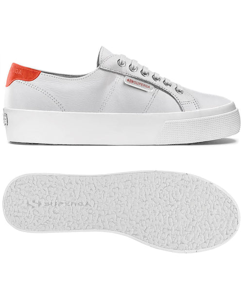 2730 nappacomfleau sneaker - White - Coral Fluo