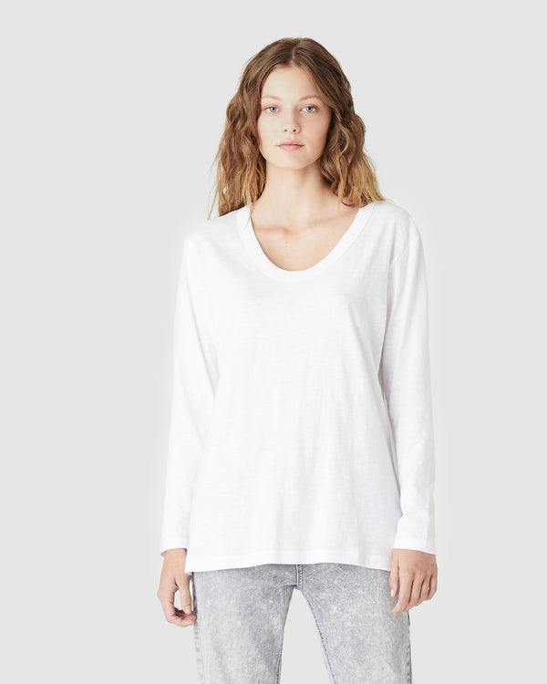 JESS L/S T.SHIRT - WHITE