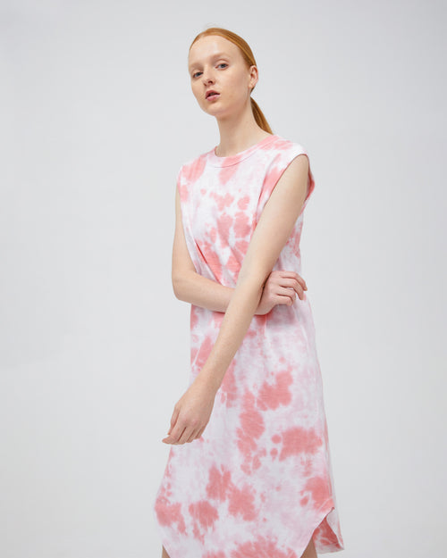 naomi dress - flamingo tie dye