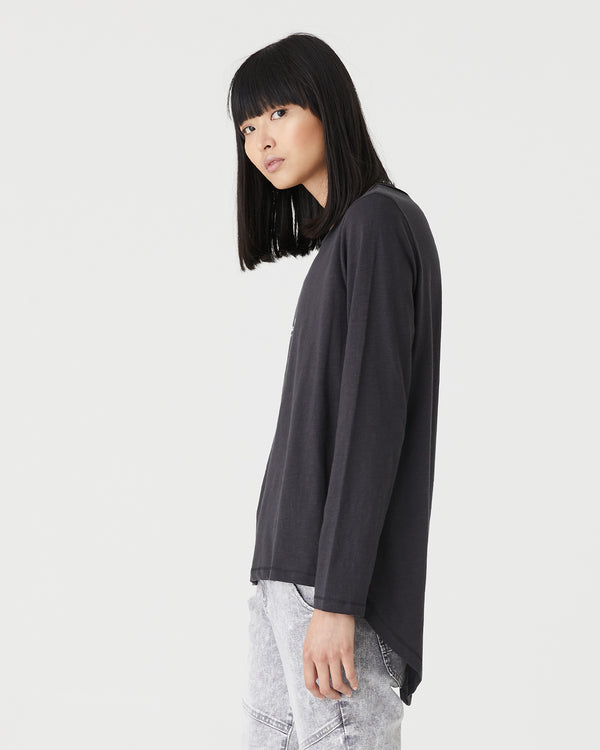 GIGI L/S T.SHIRT - BLACK ROCK