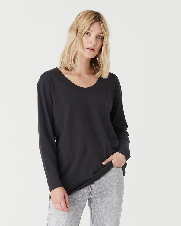 JESS L/S T.SHIRT - BLACK ROCK