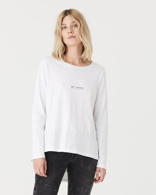 GIGI L/S T.SHIRT - WHITE