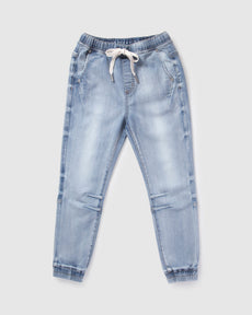 denim jogger - vintage wash