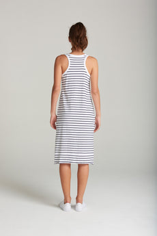 lola stripe dress - white stripe