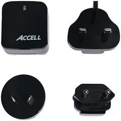 Accell D080B-023K Home or Away Dual-USB Charging Kit with International Plug Adapters