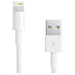 RCA AH750Z Charge & Sync USB Cable with Lightning Connector, 3ft (White)