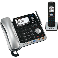 AT&T TL86109 DECT 6.0 2-Line Connect to Cell Corded/Cordless Bluetooth Phone System with Digital Answering System & Caller ID (Corded Base System & Single Handset)