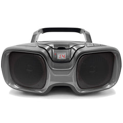 SYLVANIA SRCD1037BT-BLACK/TITANIUM Bluetooth Portable CD AM/FM Radio Boombox (Black)