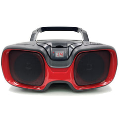 SYLVANIA SRCD1037BT-BLACK/RED Bluetooth Portable CD AM/FM Radio Boombox (Red)