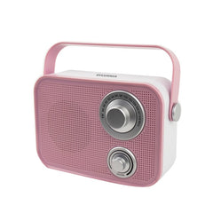 SYLVANIA SP563-PINK Retro Design Bluetooth Speaker (Pink)