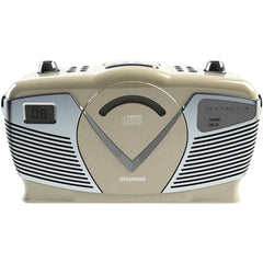 SYLVANIA SRCD212-CREAM Retro-Style Portable CD Radio Boom Box (Creme)