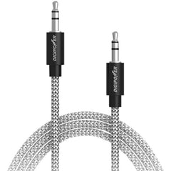 DIGIPOWER SP-AXF Tangle-Free Braided Auxiliary Cable, 3ft