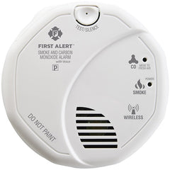 First Alert 1039839 Wireless Interconnected Smoke & Carbon Monoxide Alarm with Voice & Location