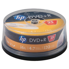 HP DR16025CB 4.7GB 16x DVD+Rs (25-ct Cake Box Spindle)