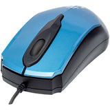 Manhattan 177801 Edge Optical USB Mouse (Blue/Black)