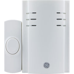 GE 19299 8-Chime Plug-in Door Chime (With 1 Wireless Push Button)