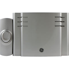 GE 19303 8-Chime Battery-Operated Door Chime with Wireless Push Button
