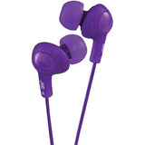 JVC HAFR6V Gumy Plus Earbuds with Remote & Microphone (Violet)