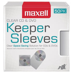 Maxell 190150 CD/DVD Keeper Sleeves (50 pk)