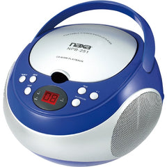 Naxa NPB251BL Portable CD Player with AM/FM Radio (Blue)