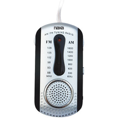 Naxa NR721BK AM/FM Mini Pocket Radio with Speaker (Black)