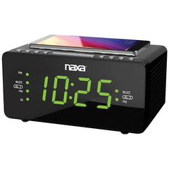 Naxa NRC-191 Dual Alarm Clock with Qi Wireless Charging (1.2