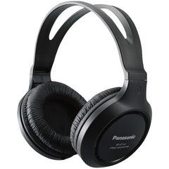 Panasonic RP-HT161-K Full-Size Over-Ear Wired Long-Cord Headphones