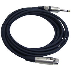 Pyle Pro PPMJL15 XLR Microphone Cable, 15ft (1/4'' Male to XLR Female)