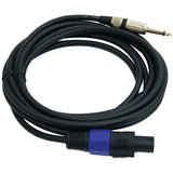 Pyle Pro PPSJ15 12-Gauge Professional Speaker Cable Compatible with speakON (15ft)