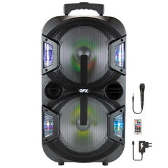 QFX PBX-210 2 x 10-Inch Portable Party Speaker