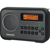 Sangean PR-D18BK AM/FM Digital Portable Receiver with Alarm Clock (Black)