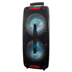 Supersonic IQ-3208DJTWS- Black Dual 8-Inch Bluetooth Speaker with True Wireless Technology (Black)