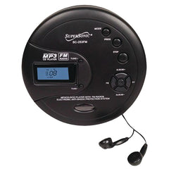 Supersonic SC-253FM Personal MP3/CD Player with FM Radio