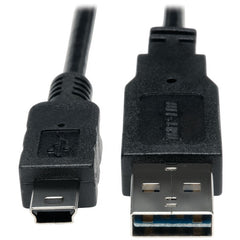 Tripp Lite UR030-003 A-Male to Mini B-Male Reversible USB 2.0 Cable, 3ft