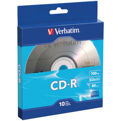 Verbatim 97955 700MB 80-Minute CD-Rs with Branded Surface, 10 pk