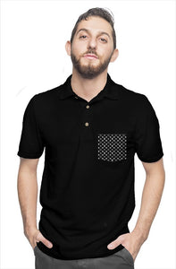 Laughing Buddha Black Polo
