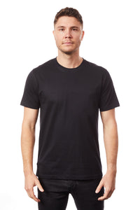 Tipsy Koala Men's Black Solid Round Neck Cotton T Shirt
