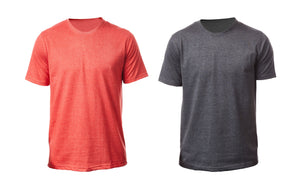 Tipsy Koala 2 Set Men's Red/Grey Mélange Roundneck T-shirt