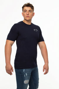 Tipsy Koala 2 Set Men's Koala Navy and Black Round Neck Cotton T Shirt
