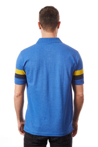 Tipsy Koala Men's Stripe Polo Blue and Yellow