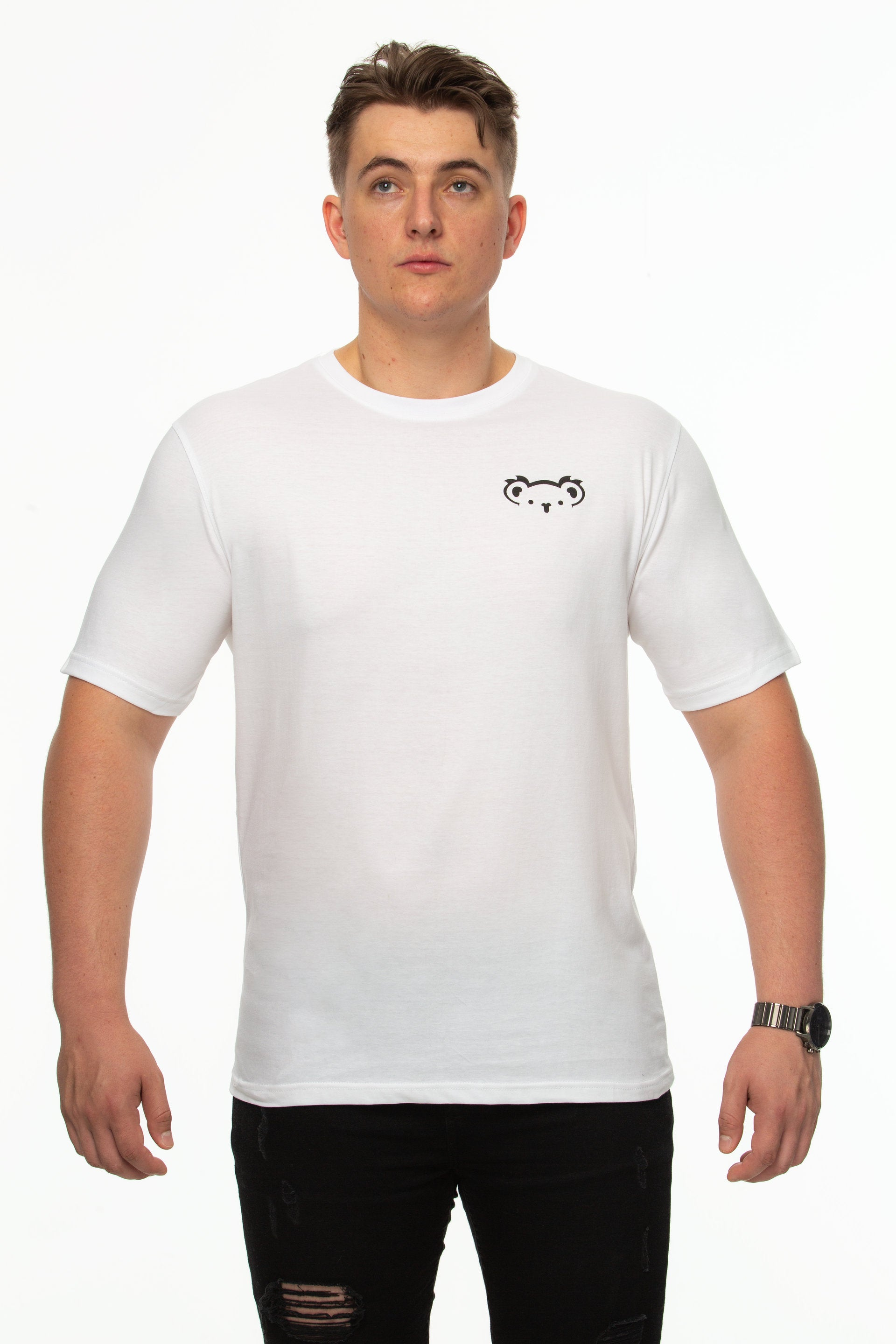 Tipsy Koala Men's Printed Cotton T Shirt - Koala Logo