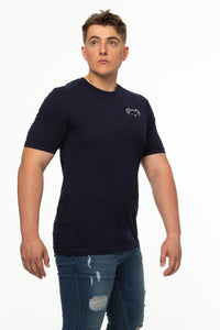Tipsy Koala Men's Solid Cotton T Shirt - Koala Logo