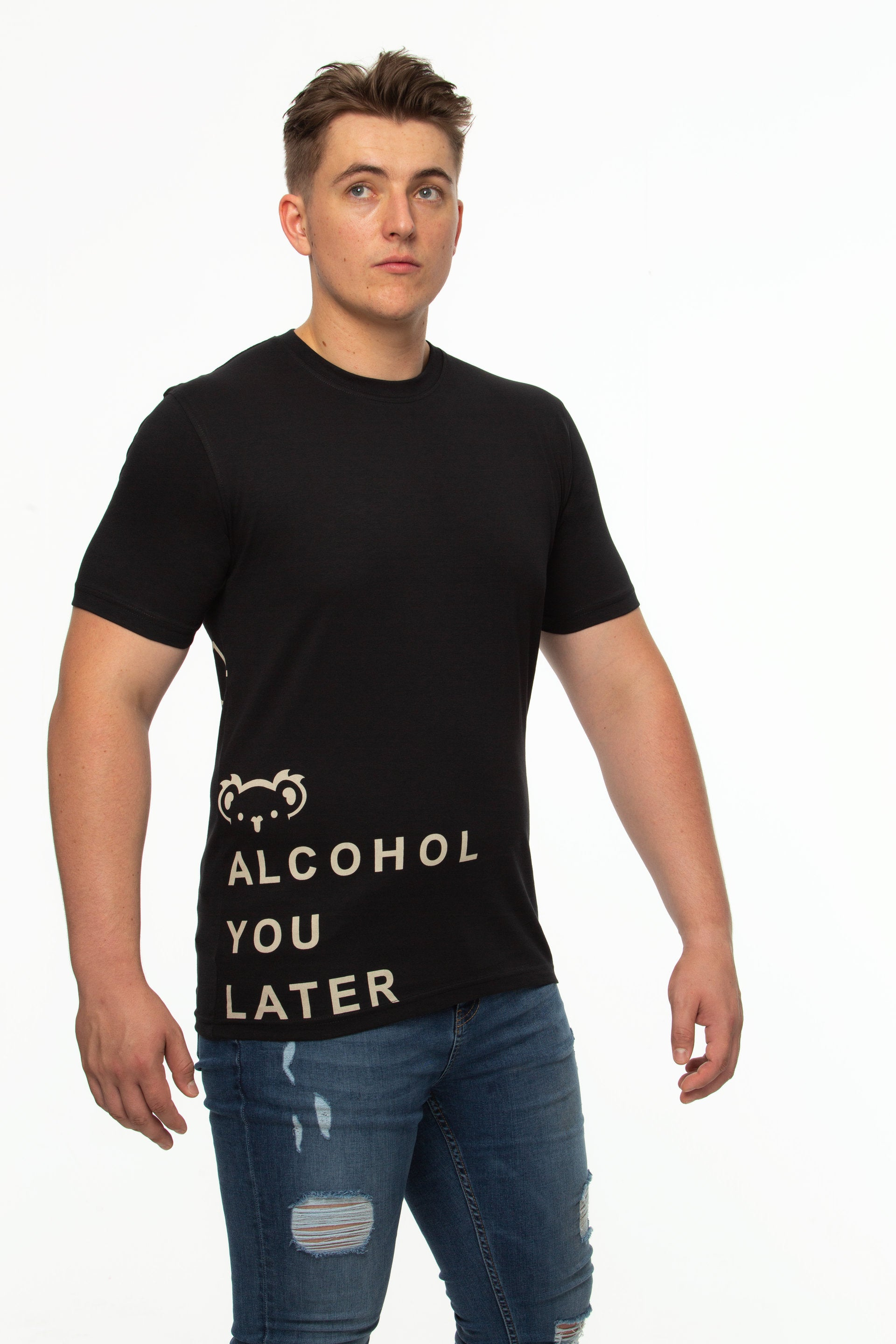 Tipsy Koala Men's Printed Cotton T Shirt - Alcohol