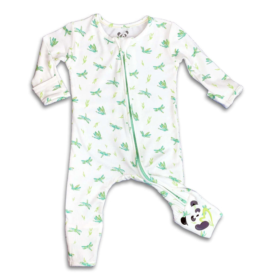 Green Dragonfly Unisex Convertible Footie / Long Sleeve Onesie