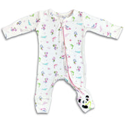 "Soft Baby Layette Pajamas Toddler Girls Boys Softest Best Sleepwear for Children Newborn Infant Kids PJs Bellabu Bear Onesie Footie Romper Convertible Footie ""All in One-sie"" Mermaid Pink"